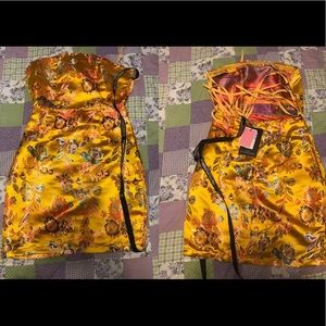 Mine Chinese dress with open straps back